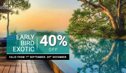Early Bird Offer Exotic 40% Off